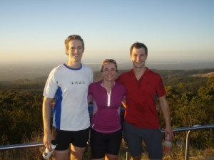 a hike up Mt Lofty with Pete after watching stage 5