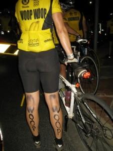 Jude's legs pre-ride