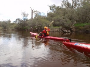 Jude at the start of the paddle