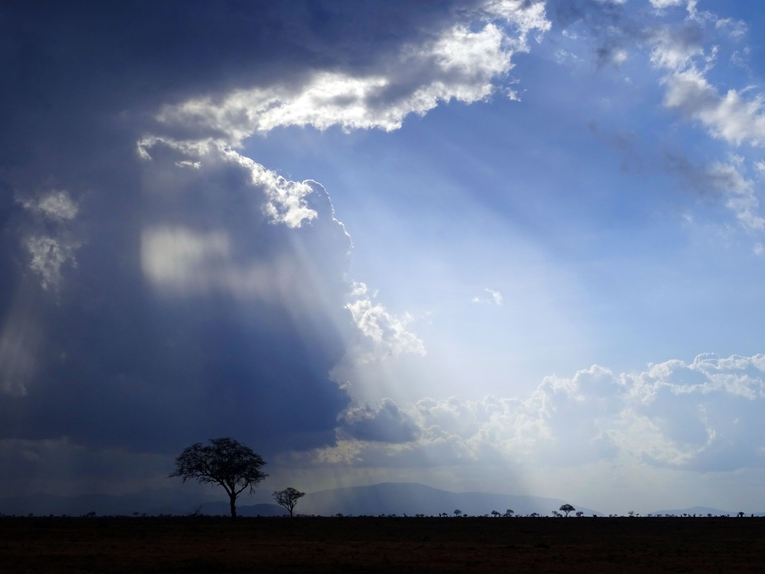 beautiful skies in Tsavo East NP