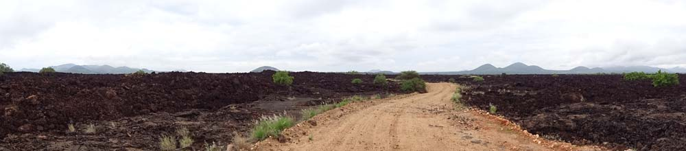 the road through the Shetani Lava Flow