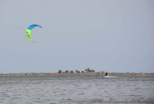Tim enjoying some kite surfing