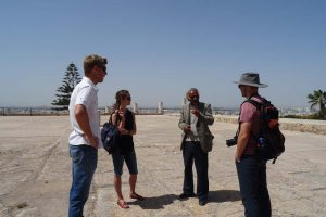 Tim, Martina and Jon listen to our guide at Carthage