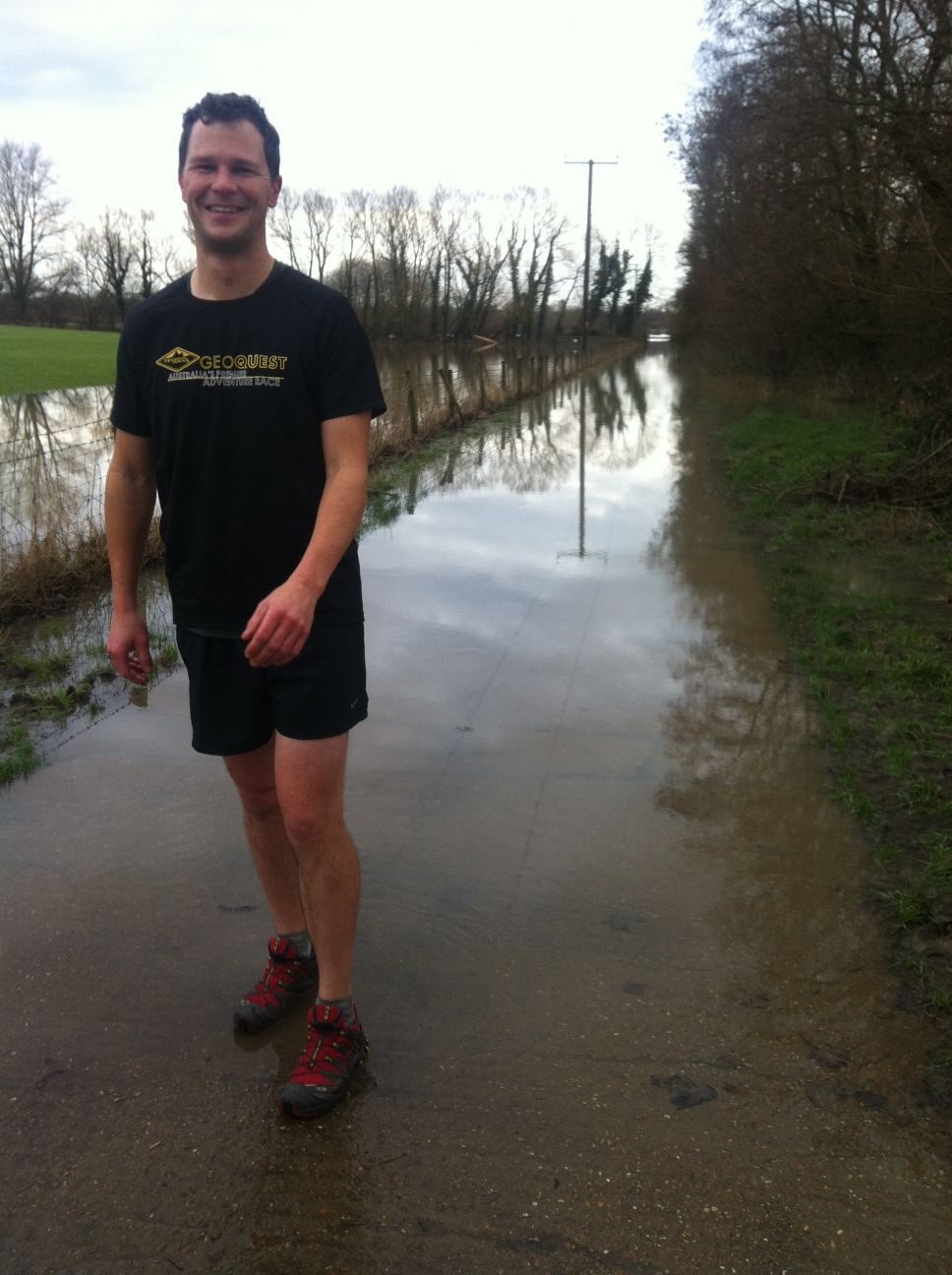 we didn't realise we should have brought a snorkel on our run...