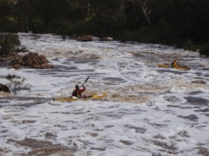 Jon going down the smaller rapids after the main drop at Bells