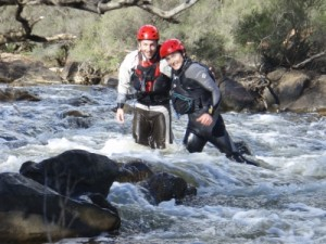 Tom and Mark in the rapids