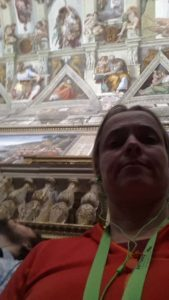 Jude in the Sistine Chapel