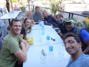 we all find a nice place to have a great lunch after the run - Jon, Jude, Mo, Steve, Anne-Marie, Hafiz, Mwai and Aneez