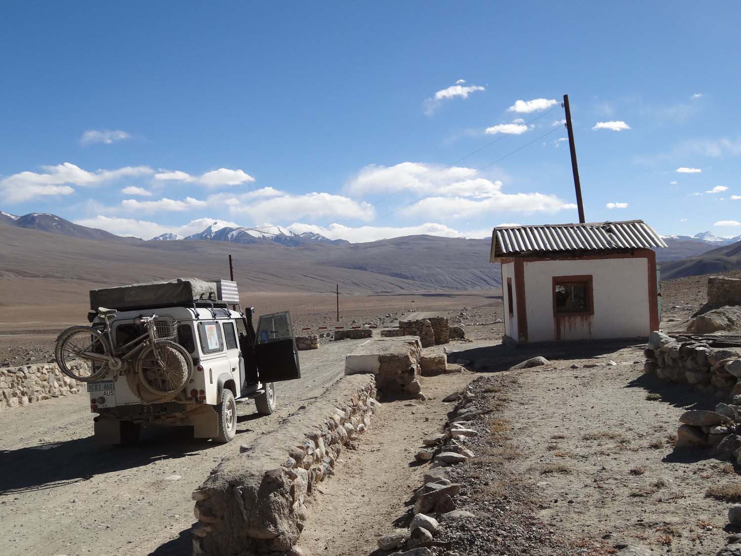 remote border post making sure no drugs cross from Afghanistan into Tajikistan