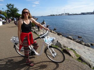 exploring Copenhagen with the city bikes with tablets