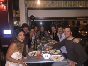 dinner in Perth with Chiara, Marty, Jude, Regine, Kat, Zoe, Clayton and Jon
