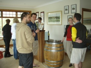 a quick wine tasting after the mtb ride with Adrian and Dimi