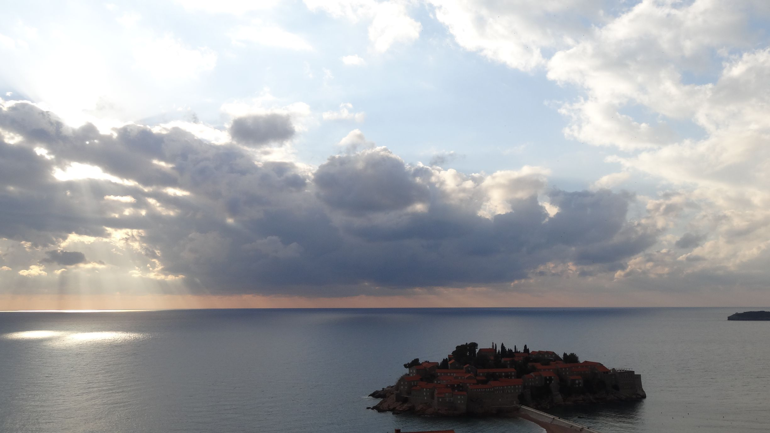 Sveti Stefan - once a fishing town, now an island hotel