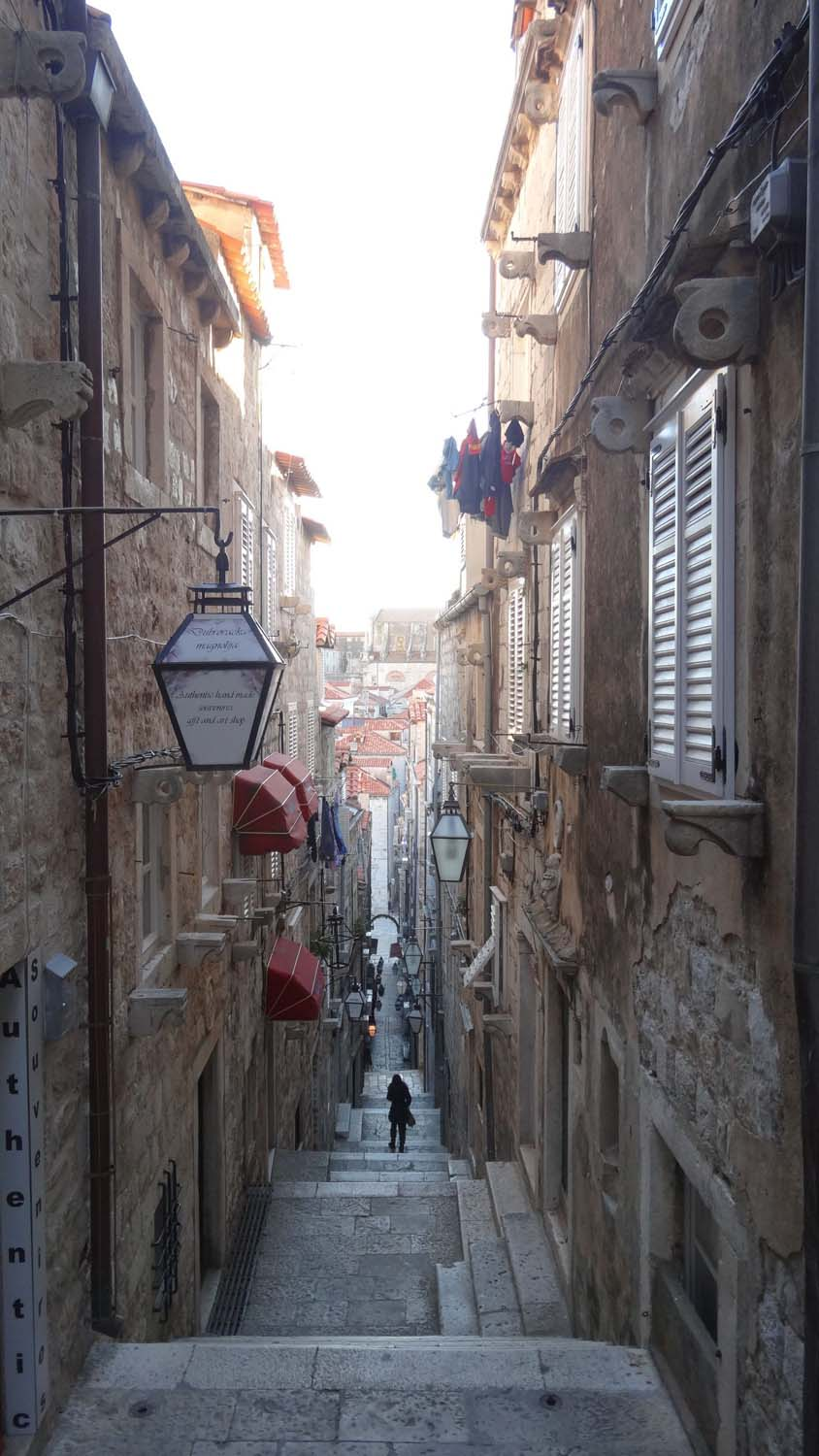 Dubrovnik - not a great place for a wheelchair, but it's a stunning old town