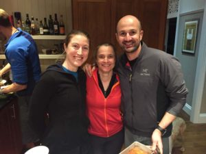 Jenn, Jude and Todd at the Tuesday night Mt Coot-tha dinner - we had to make sure we could join one!