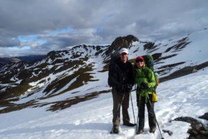 Jon and Jude on the way to Angelus hut