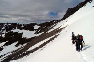 hiking from Mt Angelus hut to Sabine hut