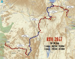 2017 RVO route overview from Nairobi to the Masai Mara