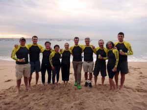 the paddlers: Matt, Simon, Christian, Rebecca, Jude, Jon, Fin, Martin, Karen and Ryan
