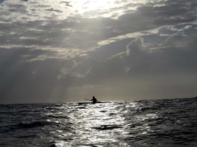Crossing the ocean once again on a surf ski