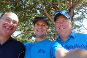 the blue boys' team - Greg, Jon and Darren