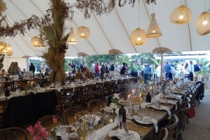 the dinner location was in the same field, it looked amazing (and the food was delicious)