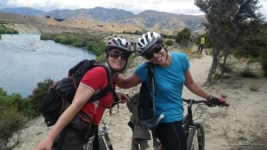 Sally and me on the mtb ride around Wanaka