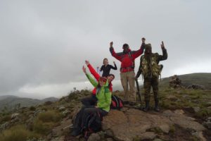 we made it, top of Ol Doinyo Lesatima (4,001m), highest peak in the Aberdare NP