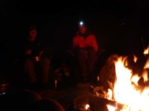 Jon and Marty around our campfire after we set up camp