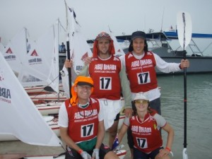 the team ready for the first paddle