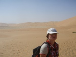 87km through the desert gets pretty hot, even in December
