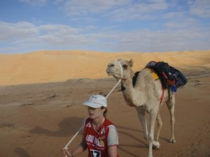 the camel wasn't interested much in walking through the desert...