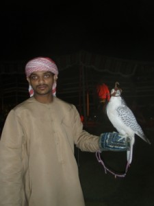 falcon and his master