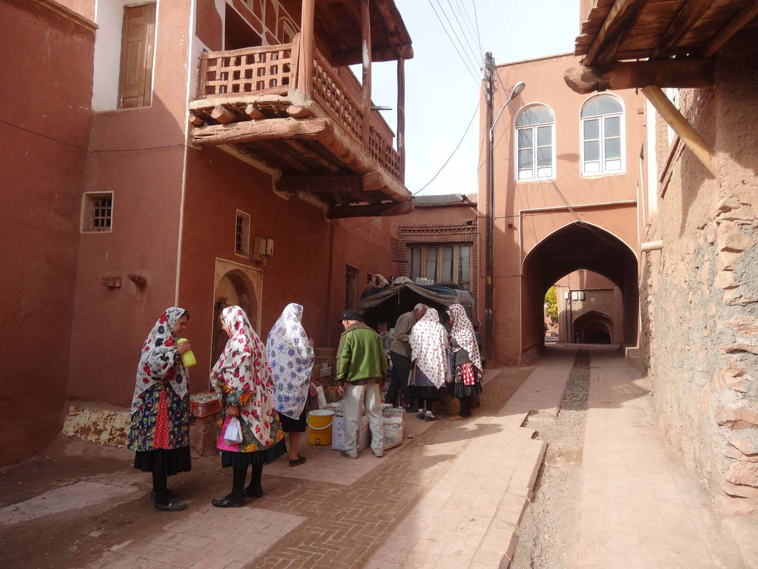 in Abyaneh the ladies have their own traditional dress