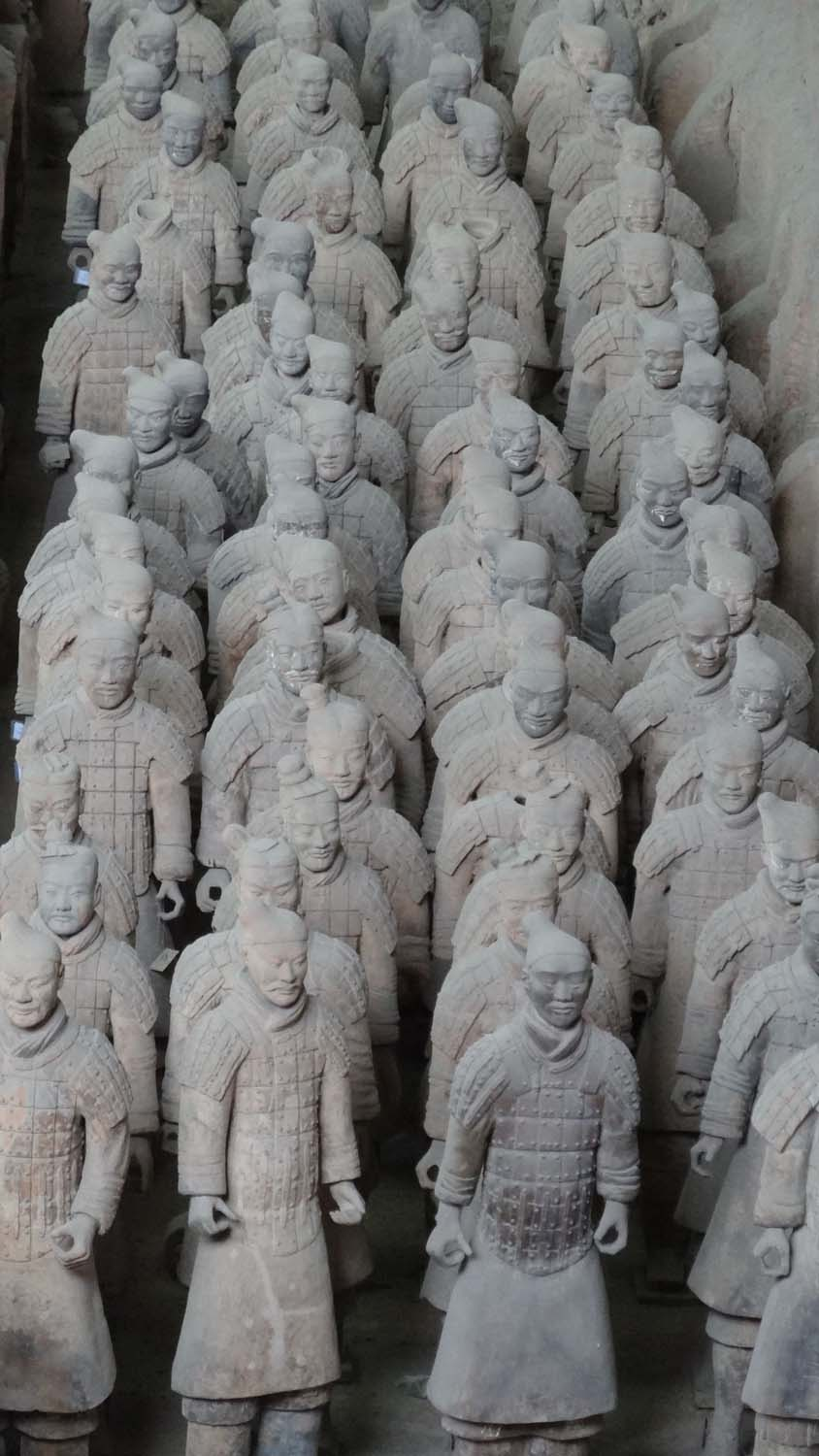 they are all life-size, quite tall for Chinese at the time as they were all selected for their height