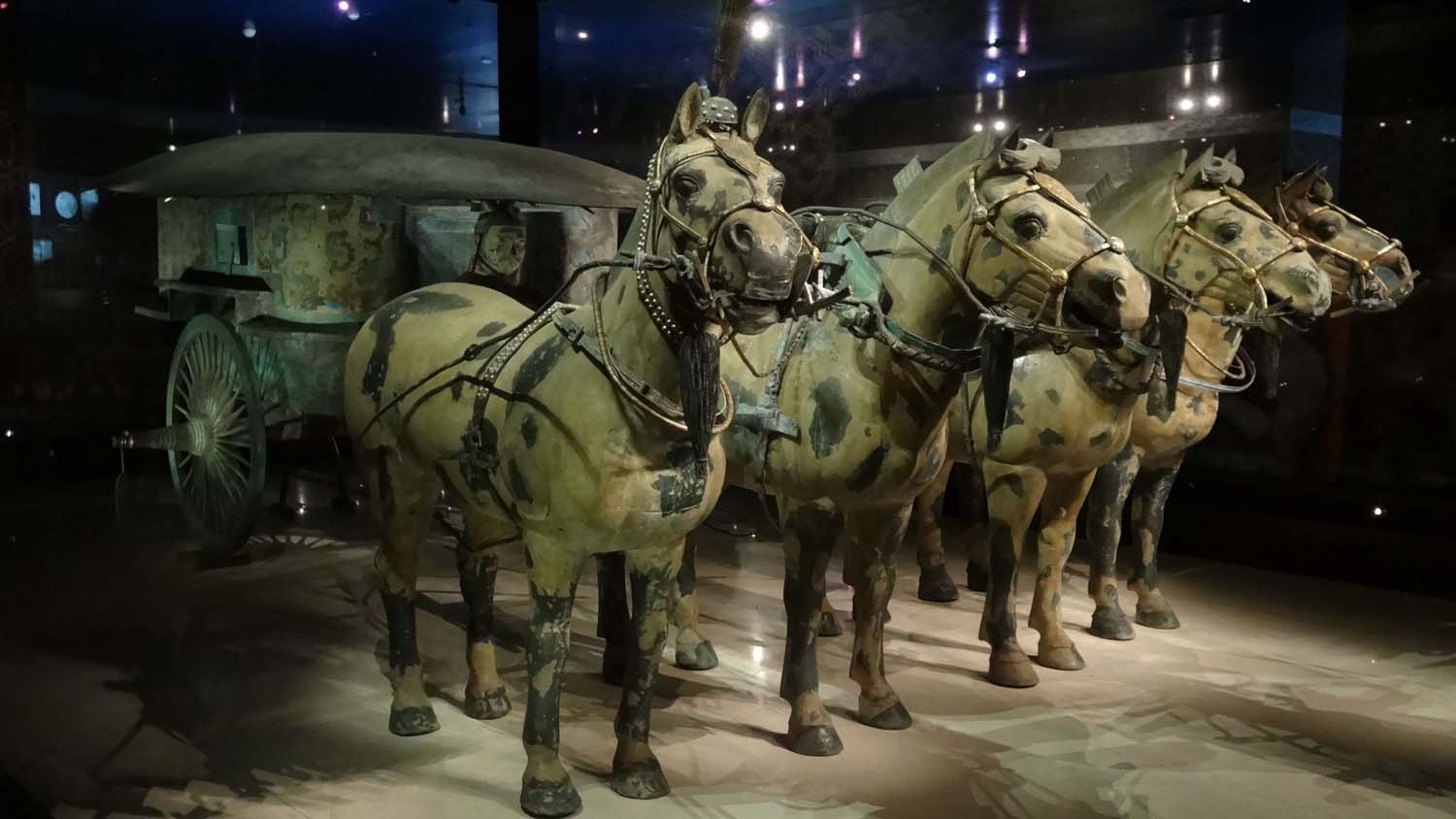 one of the chariots with 4 horses