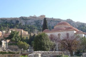 first view of the Acropolis