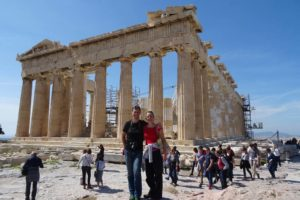 Jon and Jude in the Acropolis