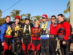 team photo before the start - Karen, Dr Dave, Jon, Jude, Troye, Clayton and Muz