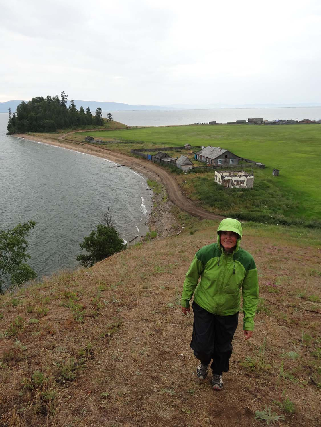 wet and windy day for a walk on the Great Baikal Trail