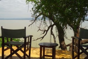 room with a view over Lake Baringo
