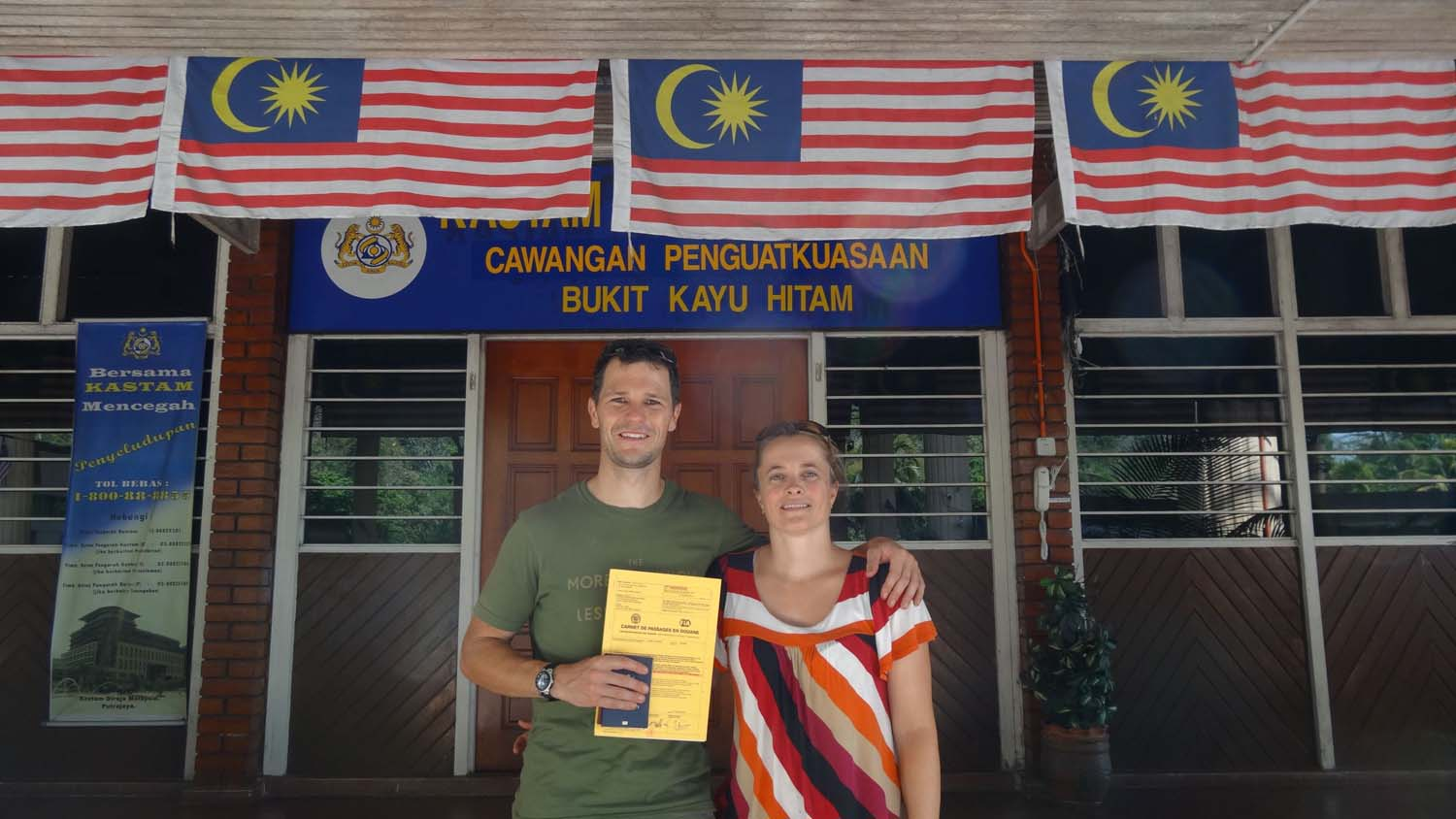We got our carnet de passage stamped as we exit Malaysia