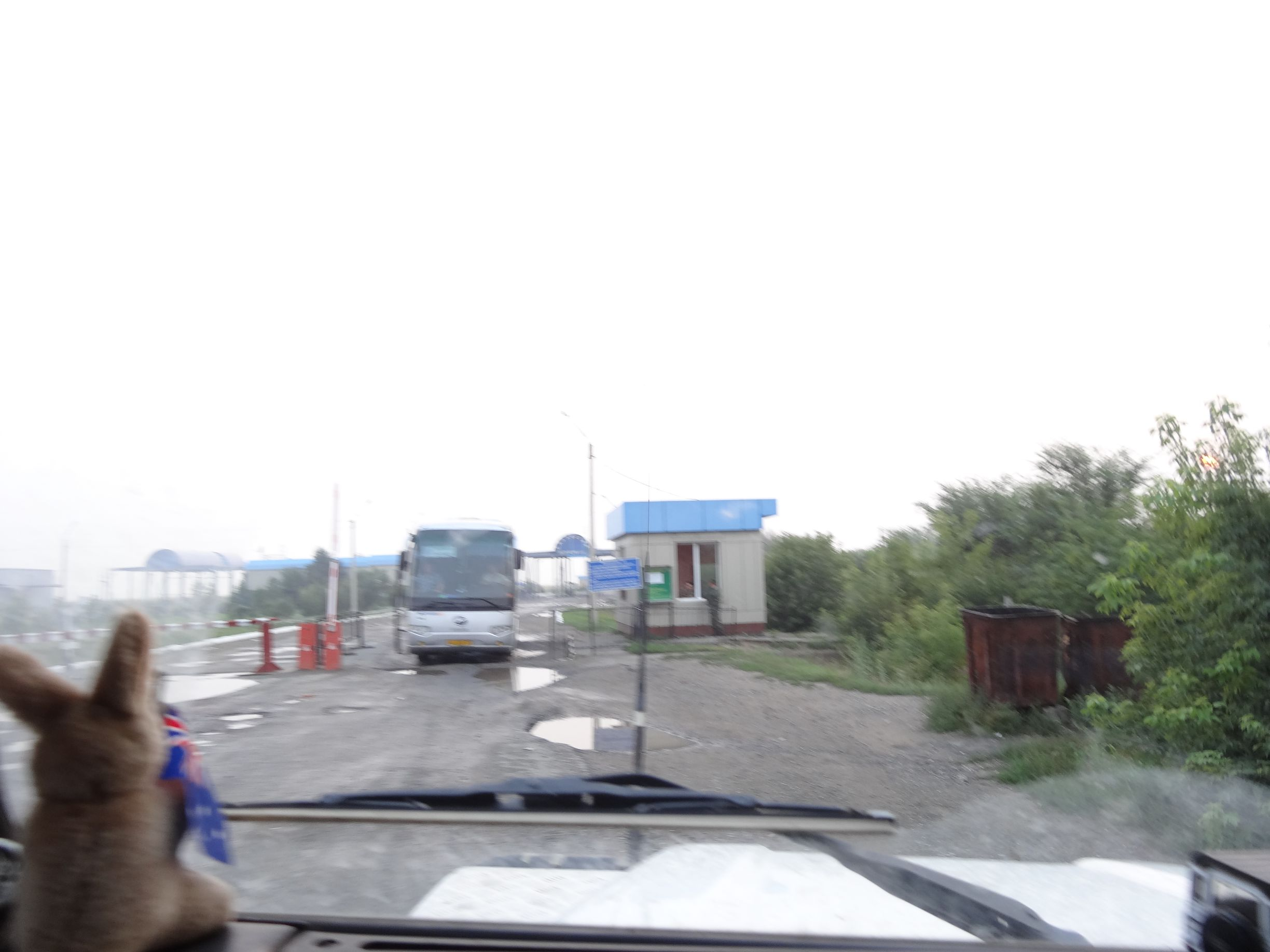 the gate at the Kazakhstan border
