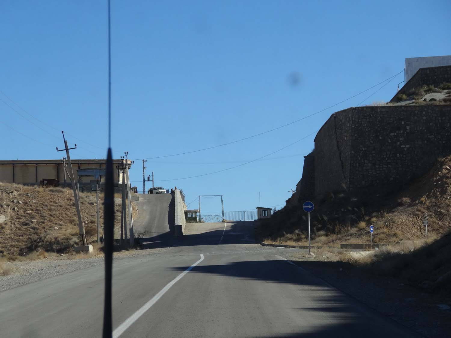 turn sharply right up the hill for the border posts (both Turkmenistan and Iran)