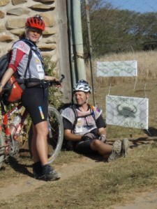 entering Kubusi, a private wildlife conservancy on the bikes