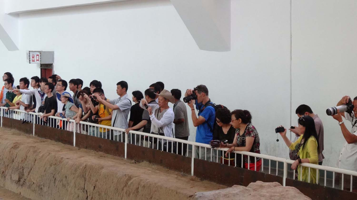 this was early morning crowds at the terracotta warriors