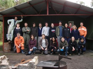the whole group of cavers that weekend