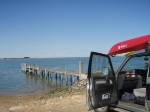 going for a paddle in the Coorong