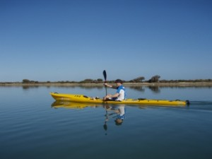 Jon kayaking