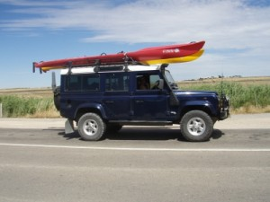 our awesome new car Lara with the kayaks